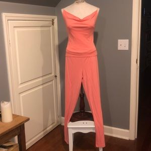Like new Coral backless pant suit